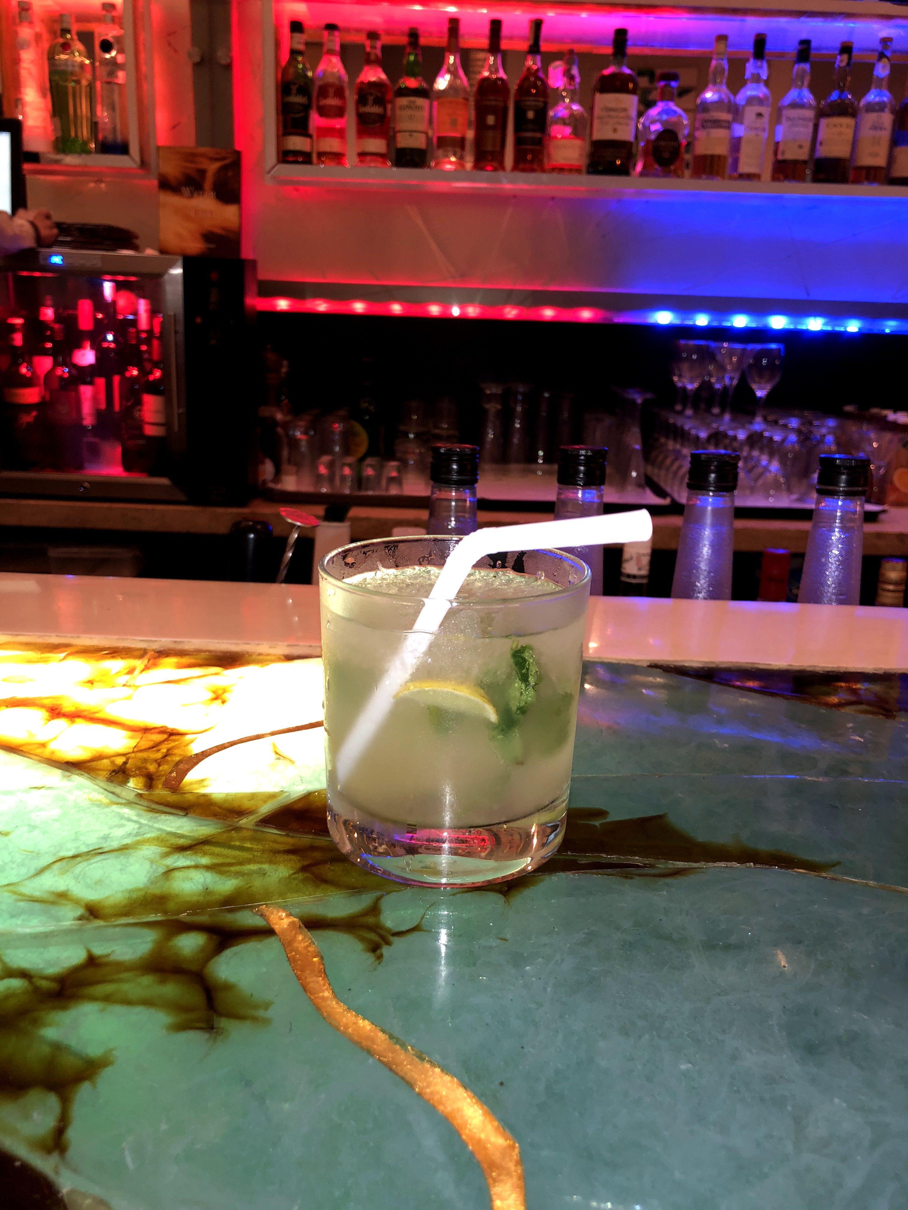 Mojito at the Meluha Hotel bar